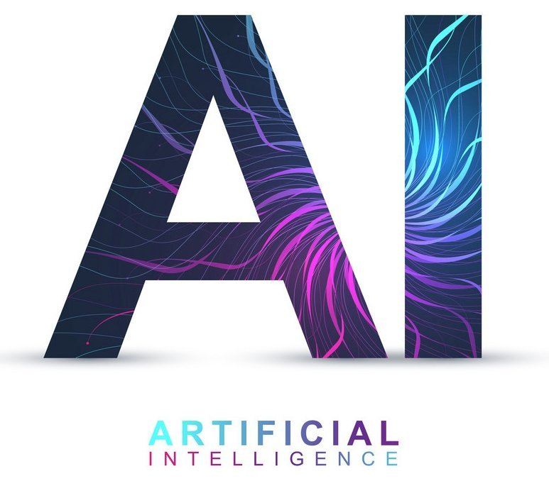 Artificial Intelligence Logo. Artificial Intelligence and Machine Learning Concept. Vector symbol AI. Neural networks and another modern technologies concepts